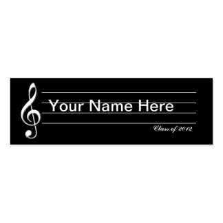 Music Graduate Card Double-Sided Mini Business Cards (Pack Of 20)