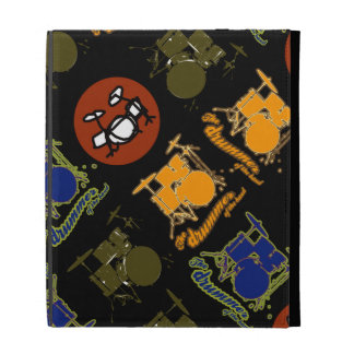 music great drums pattern iPad folio covers
