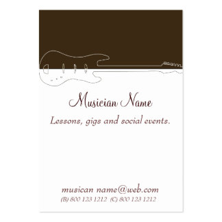 Music Guitar Band Business Cards