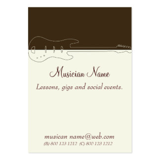 Music Guitar Band Pack Of Chubby Business Cards