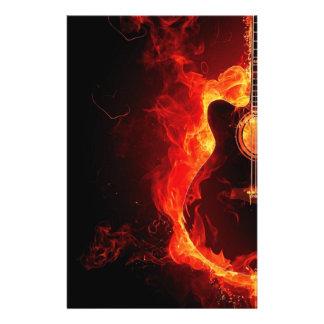 music guitar flames fire note dance Destiny'S 14 Cm X 21.5 Cm Flyer