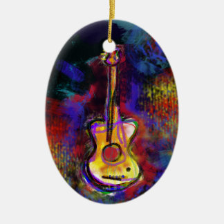 music guitar instrument christmas ornament