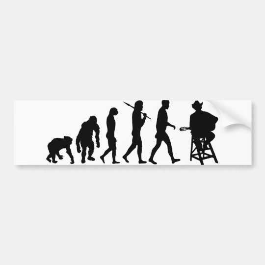 Music Guitar Player Bumper Sticker