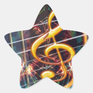 Music Guitar Teacher Family Friends Fun Destiny Star Sticker
