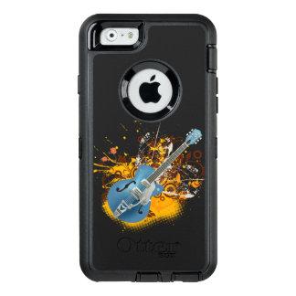 music guitar vintage vector swirl art OtterBox defender iPhone case