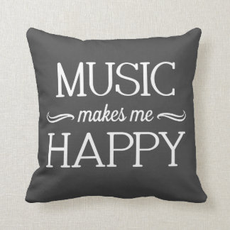 Music Happy Pillow - Assorted Styles & Colors