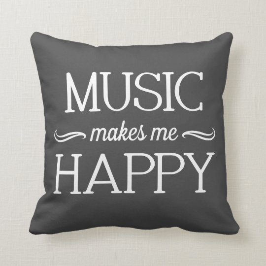 Music Happy Pillow - Assorted Styles & Colours