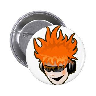 Music Head 6 Cm Round Badge
