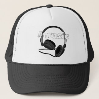 #Music Headphones Digital Art Graphic Trucker Hat