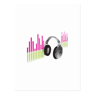 MUSIC HEADPHONES POSTCARD