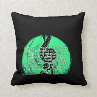 Music heals pillow