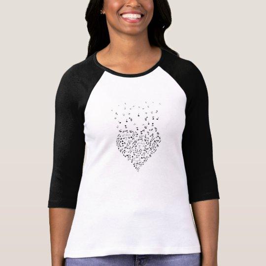 Music Heart Notes Raglan T-Shirt