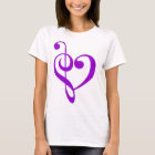 Music Heart Purple T-Shirt