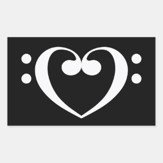 Music Heart Rectangular Sticker