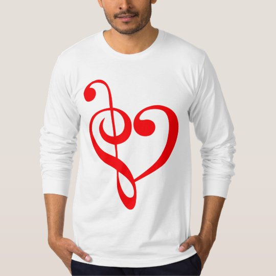 Music Heart Red T-Shirt