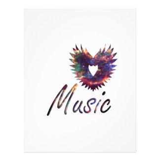 Music heart wing below nebula 1 21.5 cm x 28 cm flyer