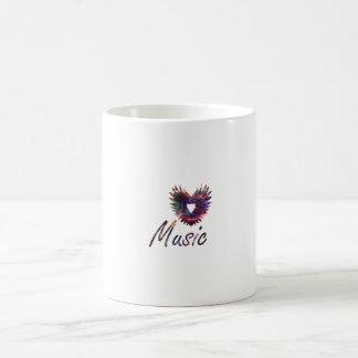 Music heart wing below nebula 1 coffee mug