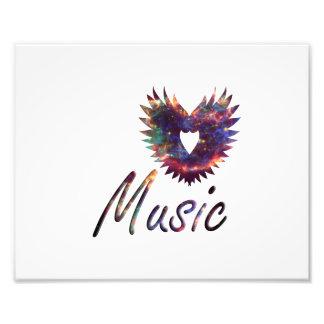 Music heart wing below nebula 1 art photo