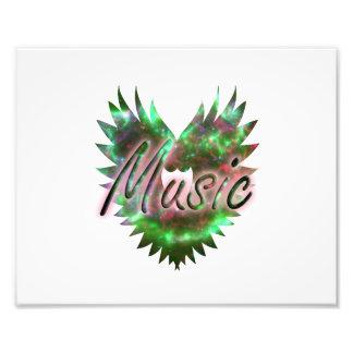 Music heart wing overly nebula 1 green pink photo