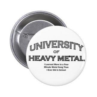 MUSIC-HEAVY METAL 6 CM ROUND BADGE