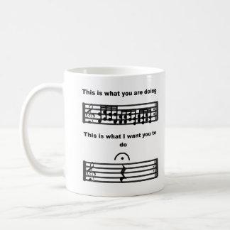 Music Humour Be Silent mug