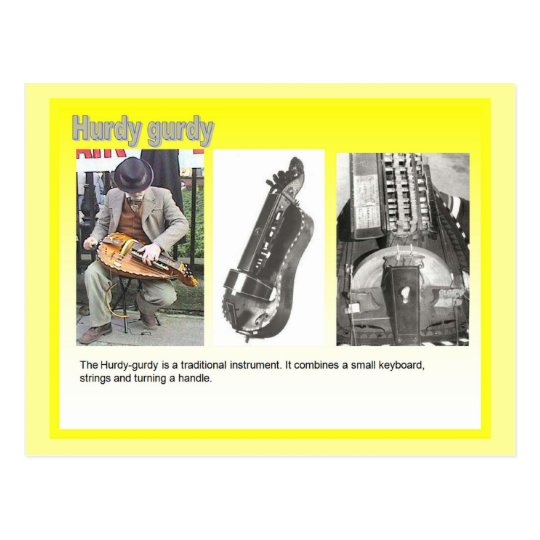 Music,  Hurdy gurdy player Postcard