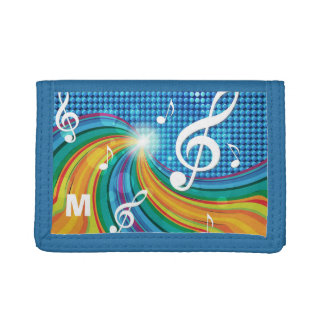 Music Illustration custom monogram wallets