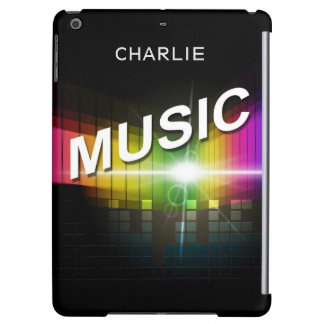 Music Illustration custom name device cases iPad Air Cover