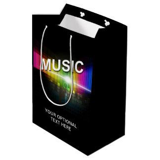 Music Illustration custom text gift bag