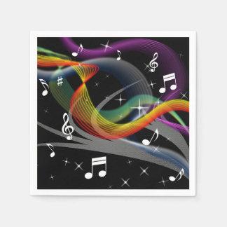 Music Illustration paper napkins Disposable Serviette