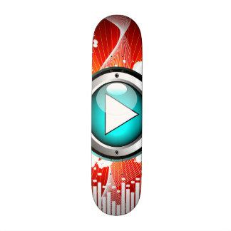 music illustration with speaker and design element 20.6 cm skateboard deck