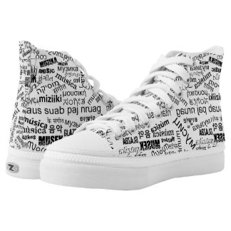 Music in Different Languages High Tops