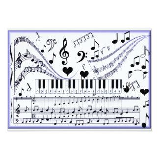 Music in me_ 13 cm x 18 cm invitation card
