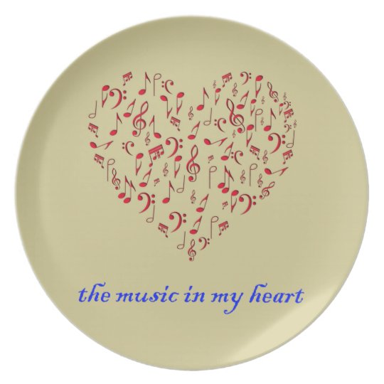 music in my heart plate