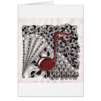 Music in my veins greeting card