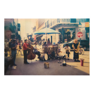 Music in New Orleans by Guido Prussia Wood Canvas