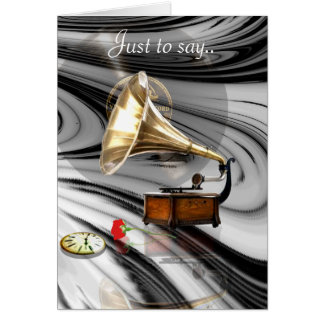 Music in Retro Greeting Card