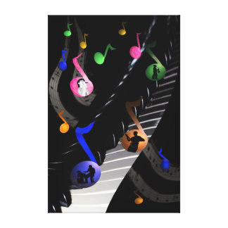 Music in Space Gallery Wrap Canvas
