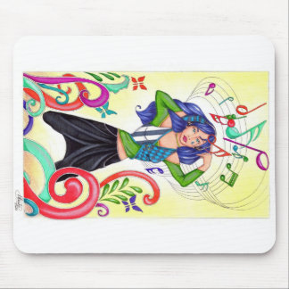 Music in the air mouse mat