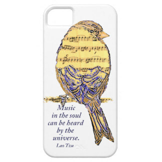 Music in the Soul Quote & Music Note Bird iPhone 5 Cover