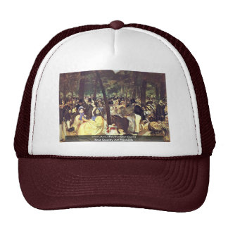 Music In The Tuileries By Manet Edouard Trucker Hat