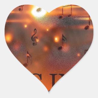 Music In You Heart Sticker