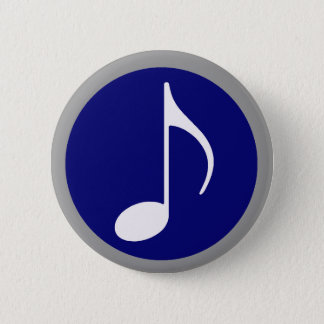 music inside 6 cm round badge