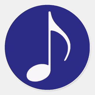 music inside round sticker