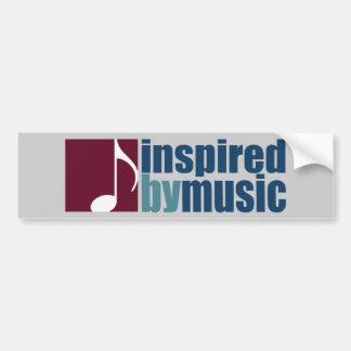 music inspiration bumper sticker