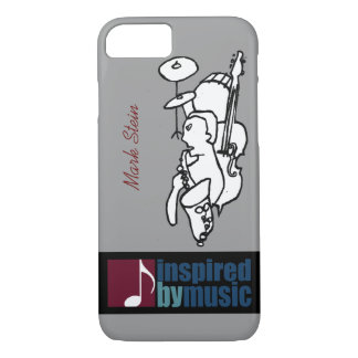 music inspired design with custom name iPhone 7 case