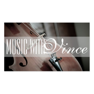Music Instructor Studio Cello Business Card