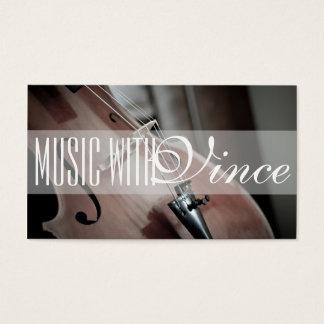 Music Instructor Studio Cello Business Card