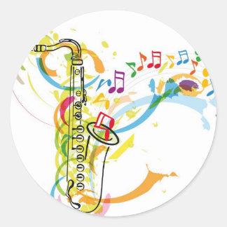 Music Instrument illustration Round Sticker