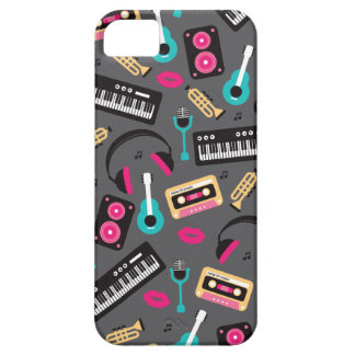 Music instrument retro jazz cassette and sounds cover for iPhone 5/5S